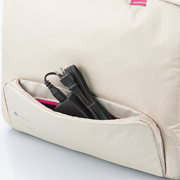 Pocket is attached to the front of bag