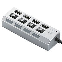 "USB hub for exclusive use of Bus powered equipped with ""individual Switch"""