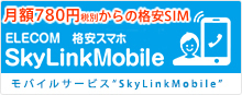 """Bargain SIM card """"SkyLinkMobile"""" of ELECOM which is usable in cheap smartphone tablet"""