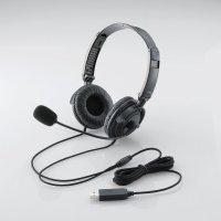 USBヘッドセット(両耳オーバーヘッド)(HS-HP20UBK)