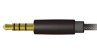 It carries dia.3.5mm 4-conductor mini-plug