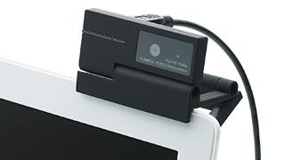ノートパソコンやデスクトップパソコンのディスプレイに取り付け可能