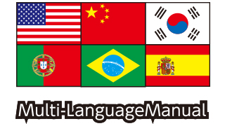 Multi-national language Manual is attached
