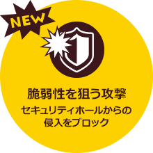[NEW] We block invasion from attack security hole for weakness